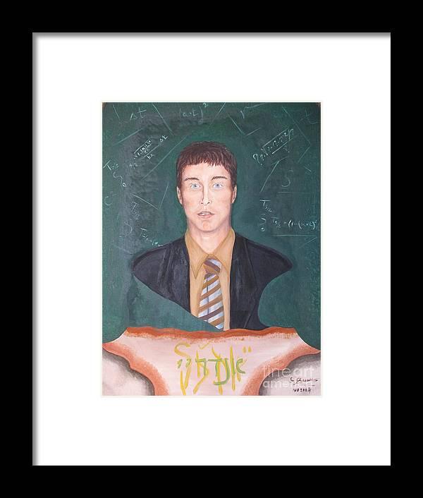 Art Framed Print featuring the painting Andrey by Svetlana Vinokurtsev