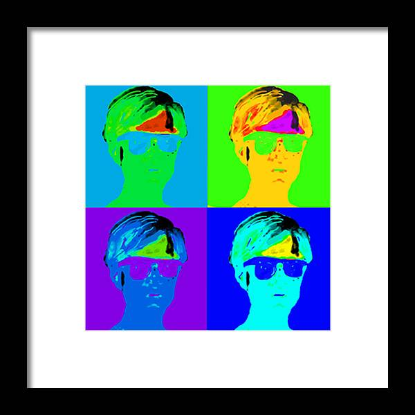 Pop Portrait Framed Print featuring the digital art Andy Is Art by Paul Knotter