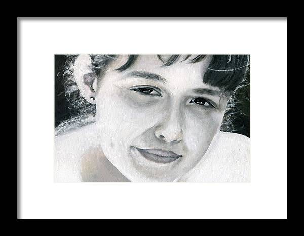 Portrait Framed Print featuring the painting Ane by Fiona Jack