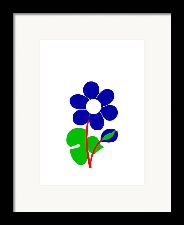 Anemone Framed Print featuring the digital art Anemone by Asbjorn Lonvig