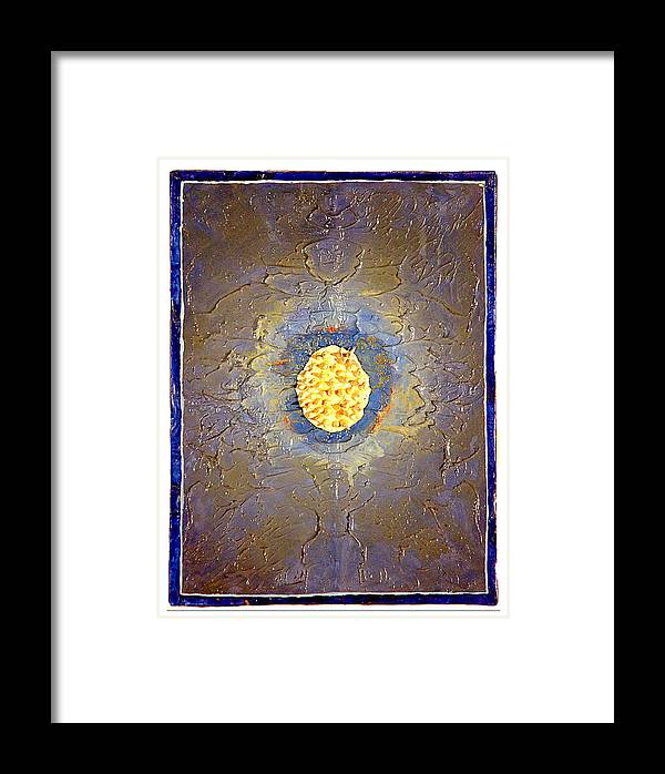 Abstract Framed Print featuring the painting Anemone by Howard Goldberg