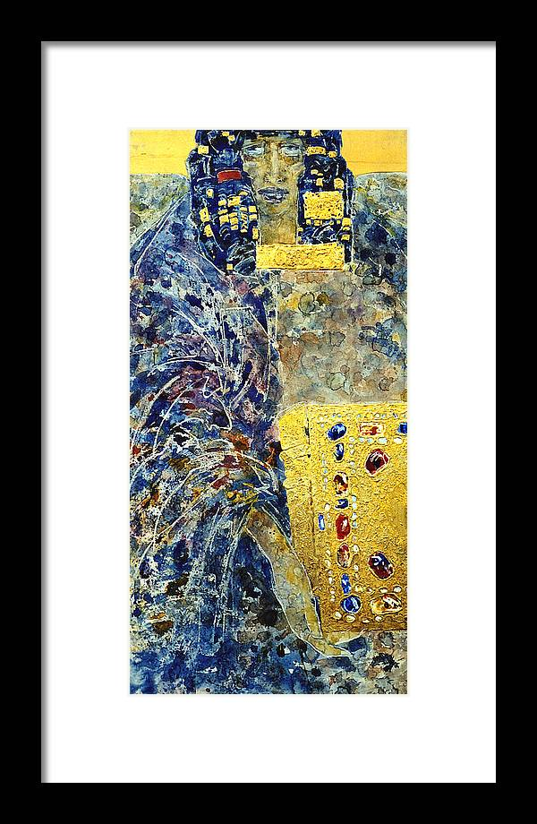 Altar Framed Print featuring the painting Angel-4 by Valeriy Mavlo