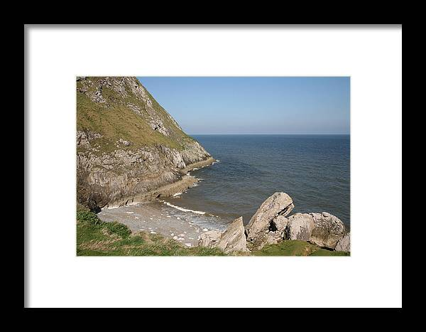 Cliffs Framed Print featuring the photograph Angel Bay. Little Orme. by Christopher Rowlands
