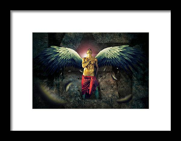 Mysterious Framed Print featuring the photograph Angel Body Art by Mark Ashkenazi
