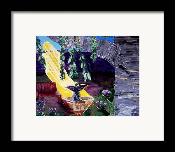 Angel Framed Print featuring the painting Angel Called Home by Karen L Christophersen