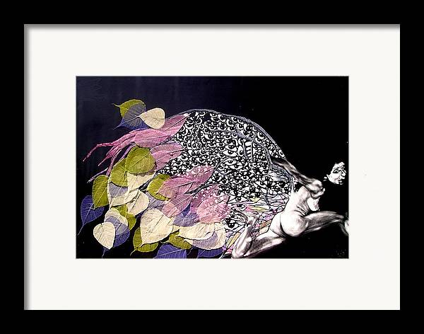 Framed Print featuring the mixed media Angel Eyes by Chester Elmore