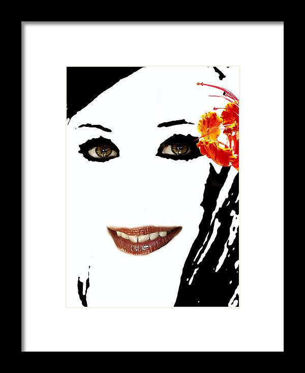 Portrait Framed Print featuring the photograph Angel Eyes by James Granberry