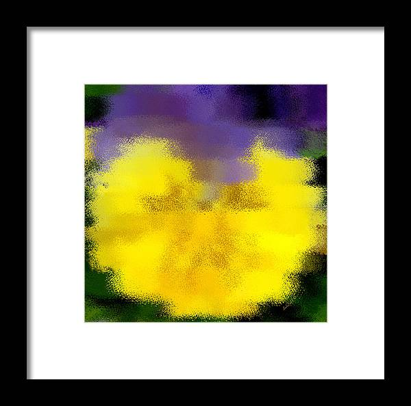 Abstract Framed Print featuring the digital art Angel Faced Petunia by Linda Galok