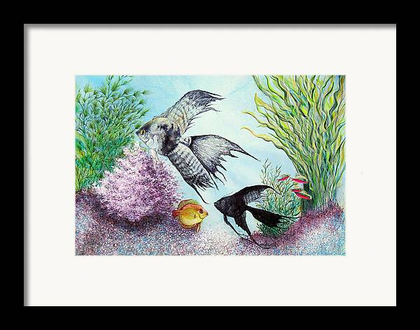 Fish Water Framed Print featuring the print Angel Fish by JoLyn Holladay