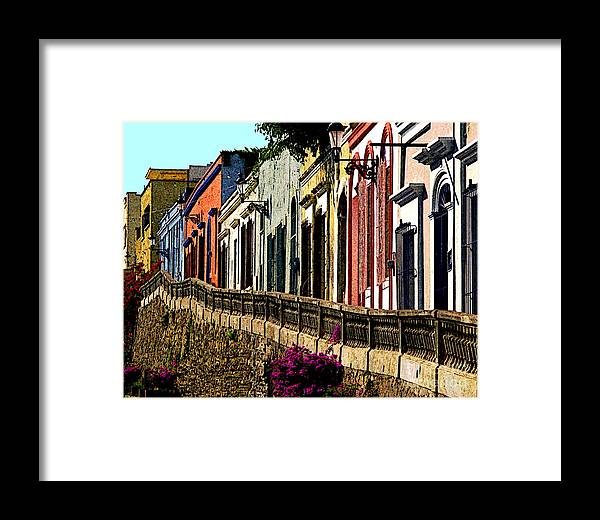 Olden Mexico Framed Print featuring the photograph Angel Flores By Darian Day by Mexicolors Art Photography