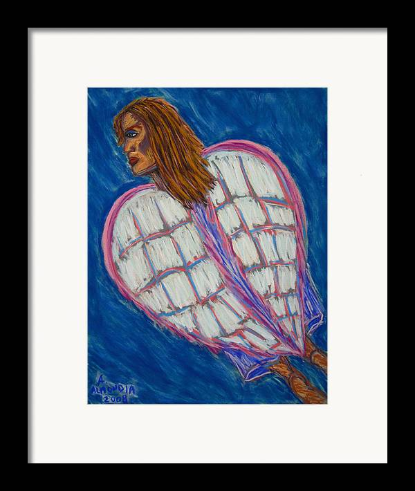 Spiritual Framed Print featuring the painting Angel II by Albert Almondia