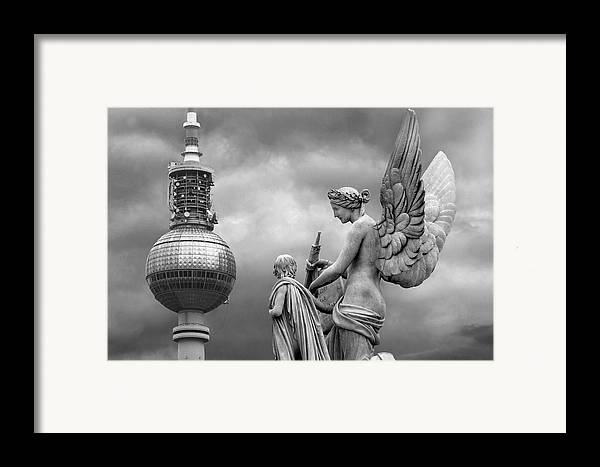 Nike Framed Print featuring the photograph Angel In Berlin by Marc Huebner