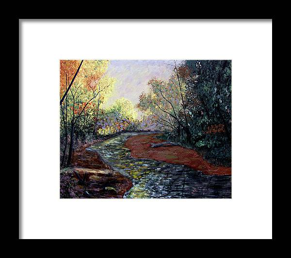 Original Oil On Wood Panel Framed Print featuring the painting Angel In Nature by Stan Hamilton