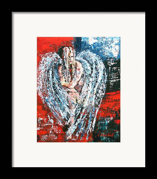 Art Framed Print featuring the painting Angel In The Light by Claude Marshall