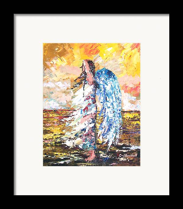 Art Framed Print featuring the painting Angel In The Wind by Claude Marshall