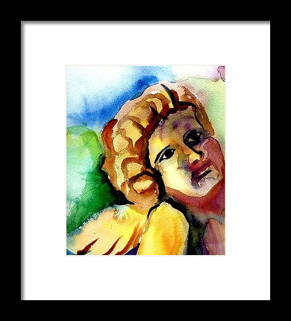 Angel Framed Print featuring the painting Angel by Janet Doggett
