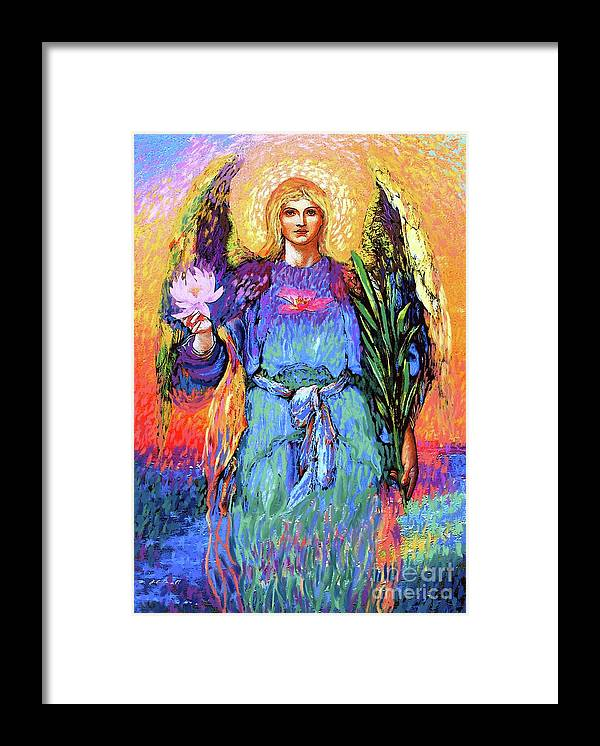 Love Framed Print featuring the painting Angel Love by Jane Small