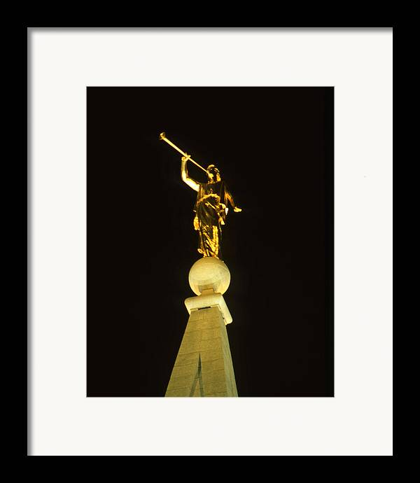 Salt Lake City Framed Print featuring the photograph Angel Moroni by Troy Montemayor
