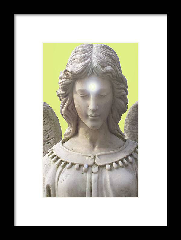 Angel Of Devotion Framed Print featuring the mixed media Angel Of Devotion No. 12 by Ramon Labusch