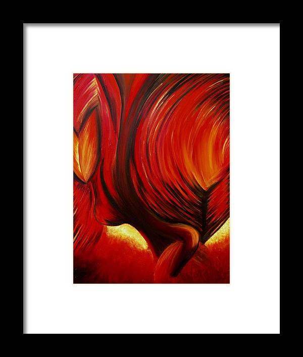 Framed Print featuring the painting Angel Of Fire by Viviana Puello Villa