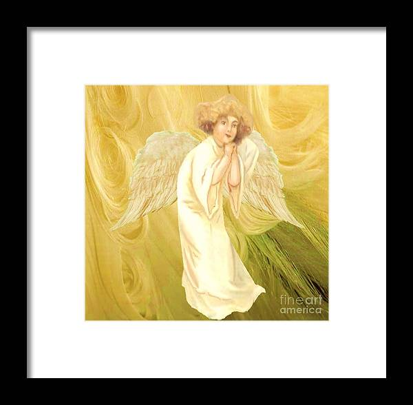 Angel Framed Print featuring the painting Angel Of Grace by Belinda Threeths