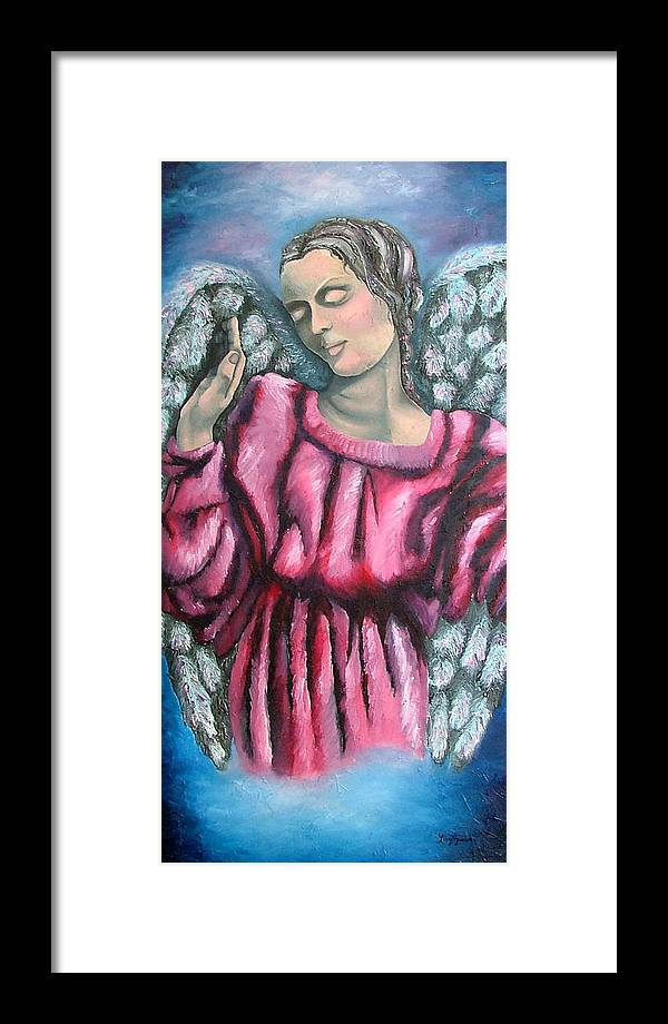 Angel Framed Print featuring the painting Angel Of Hope by Elizabeth Lisy Figueroa