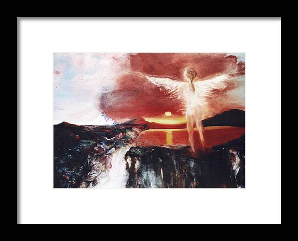 Angel Framed Print featuring the painting Angel Of The Yucatan by Michela Akers