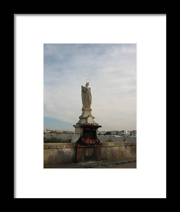 Angel Framed Print featuring the photograph Angel Raphael In Cordoba Spain by Halle Treanor