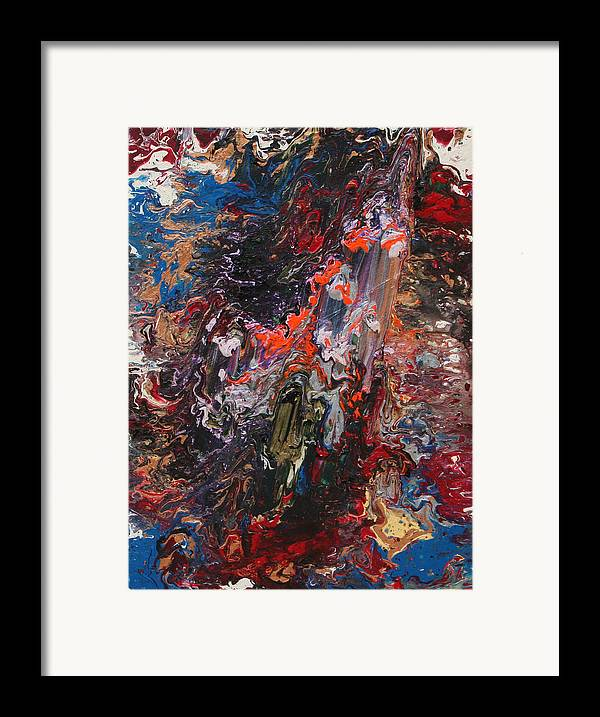 Fusionart Framed Print featuring the painting Angel Rising by Ralph White