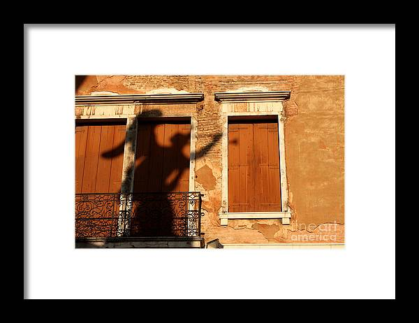 Venice Framed Print featuring the photograph Angel Shadow in Venice by Michael Henderson