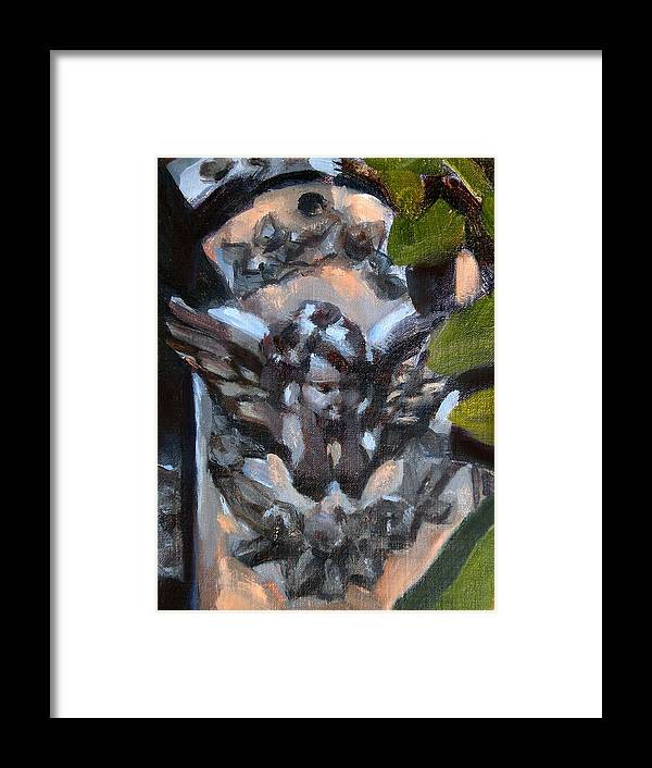 Angels Framed Print featuring the painting Angel Wall Sconce by Merle Keller