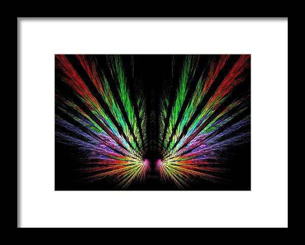Angel Wings Framed Print featuring the digital art Angel Wings by Scott Bricker