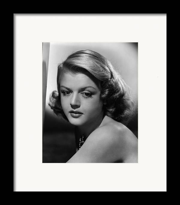 1940s Portraits Framed Print featuring the photograph Angela Lansbury, 1948 by Everett