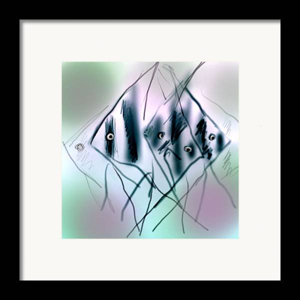 Fish Framed Print featuring the digital art Angels by Dave Kwinter