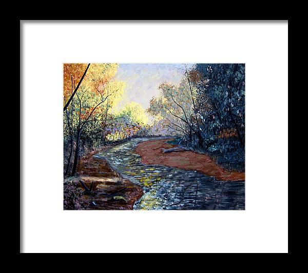 Landscape Framed Print featuring the painting Angels In Nature by Stan Hamilton