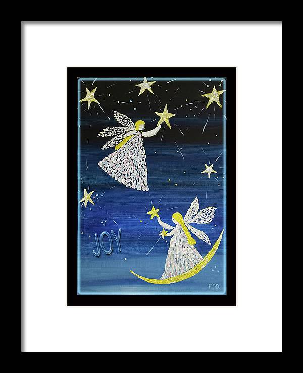Joy Of Angels Shining Stars Framed Print featuring the photograph Angels, Joy, Lucky Stars by PJQandFriends Photography
