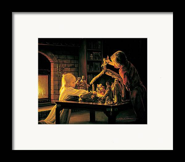 Christmas Framed Print featuring the painting Angels Of Christmas by Greg Olsen