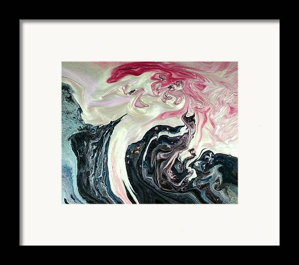 Abstract Framed Print featuring the painting Angels Vs Demons by Patrick Mock