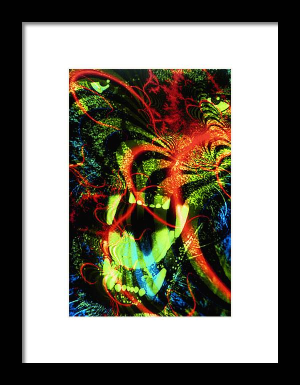 Animal Framed Print featuring the mixed media Anger Tunnel by Johnny Aguirre