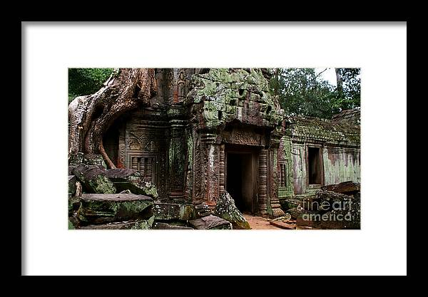 Angkor Framed Print featuring the photograph Angkor Wat by Louise Fahy