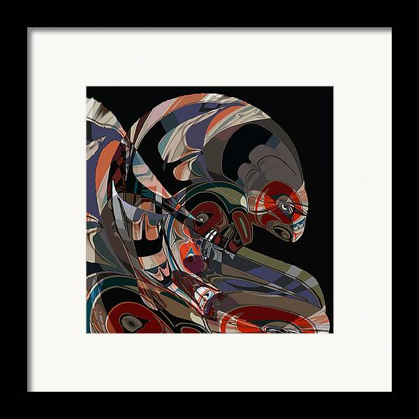 Northwest Native American Framed Print featuring the digital art Angler For Lunch by John Helgeson
