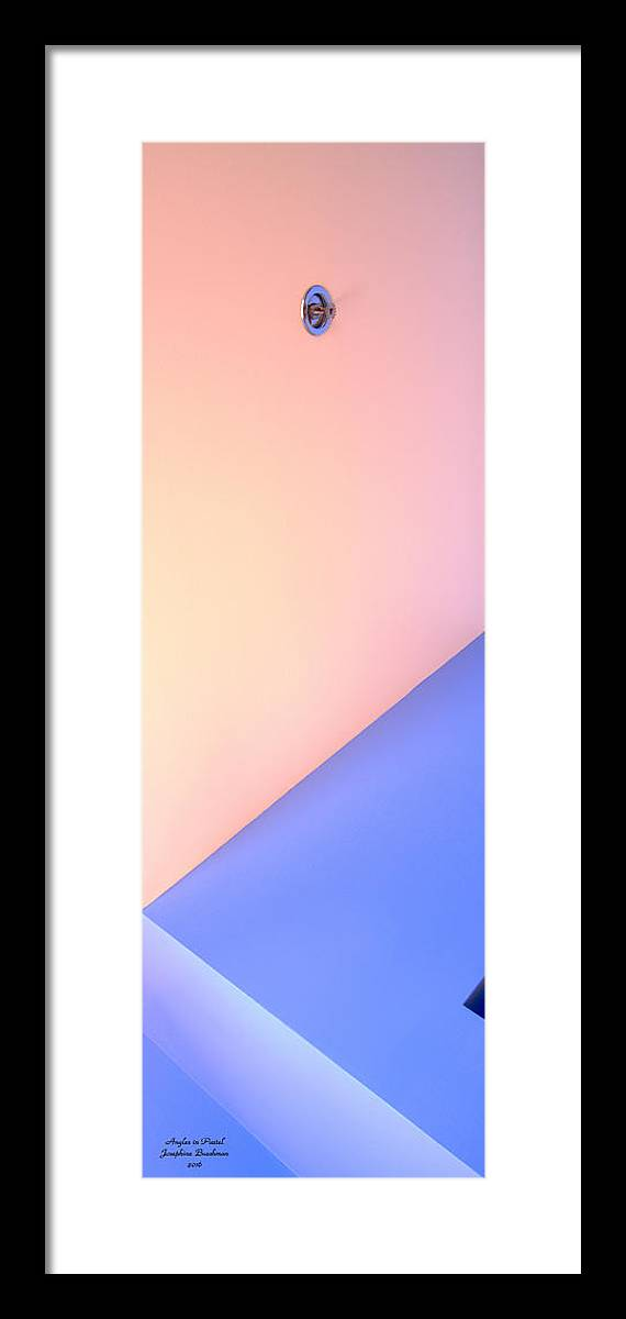 Angles Framed Print featuring the photograph Angles In Pastel  0390 by Josephine Buschman