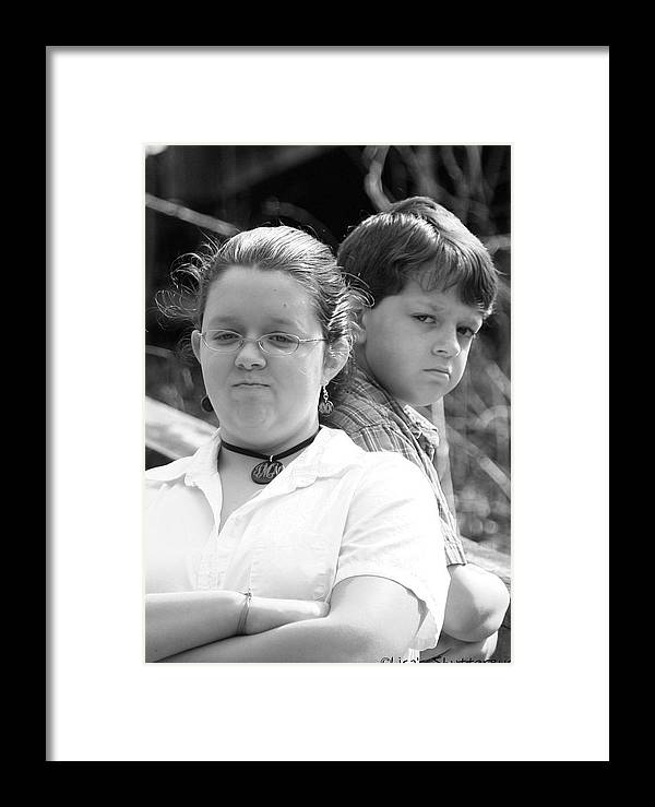 Framed Print featuring the photograph Angry Two by Lisa Johnston