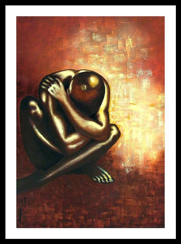Figurative Framed Print featuring the painting Angst Of Existence by Padmakar Kappagantula