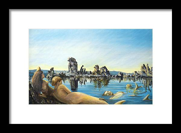 Seascape Framed Print featuring the painting Anima by Aymeric NOA