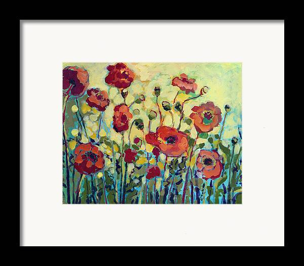 Poppy Framed Print featuring the painting Anitas Poppies by Jennifer Lommers