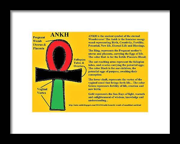 Ankh Meaning Framed Print by Adenike AmenRa