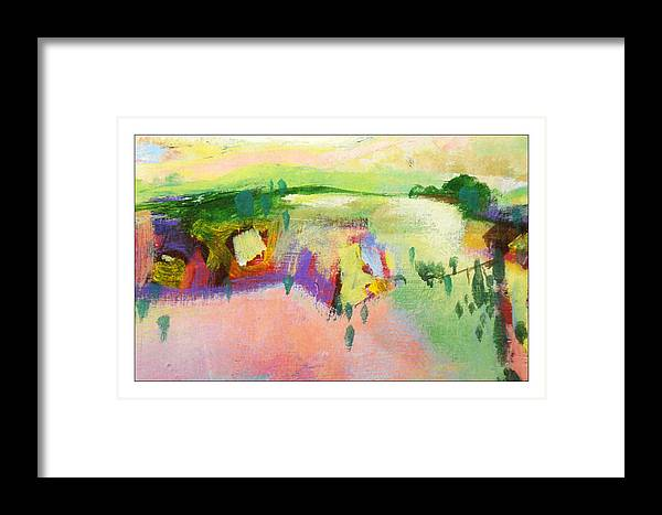 Landscape Framed Print featuring the painting Ann by Dale Witherow