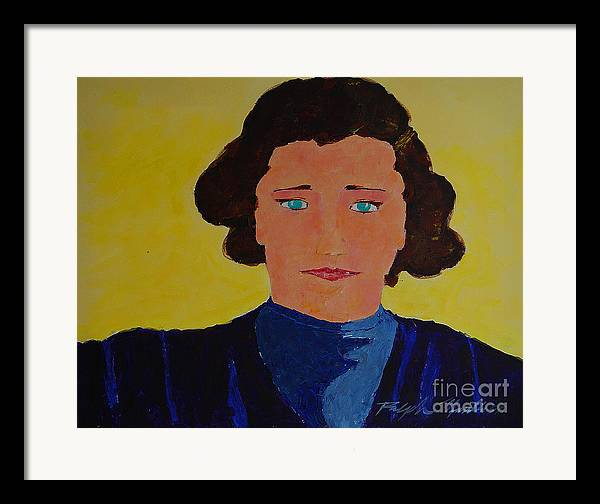Portraiture Framed Print featuring the painting Anna by Art Mantia