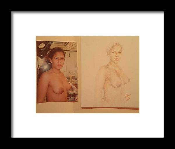 Nudes Framed Print featuring the painting Anna by Benito Alonso